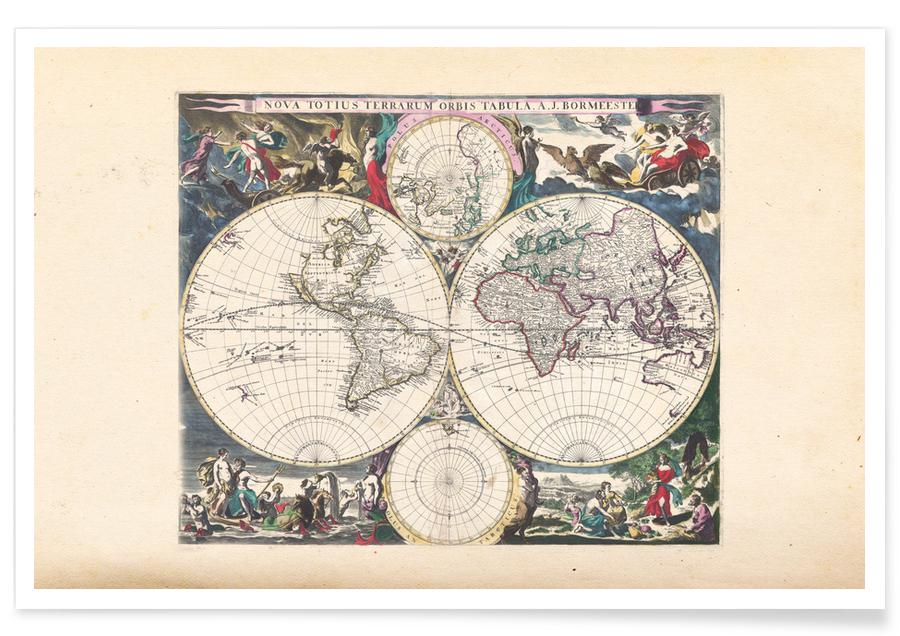 Reizen, Bormeester wereldkaart poster