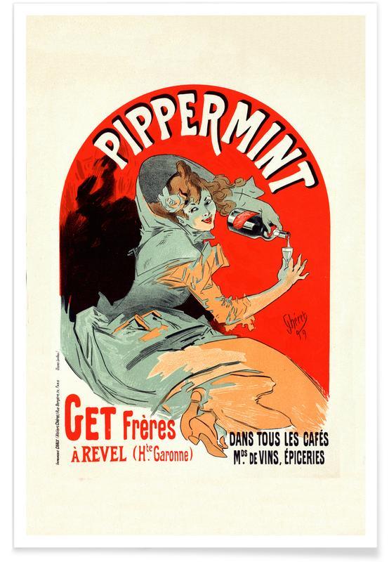 , Belgium Poster for Pippermint - Jules Chéret affiche