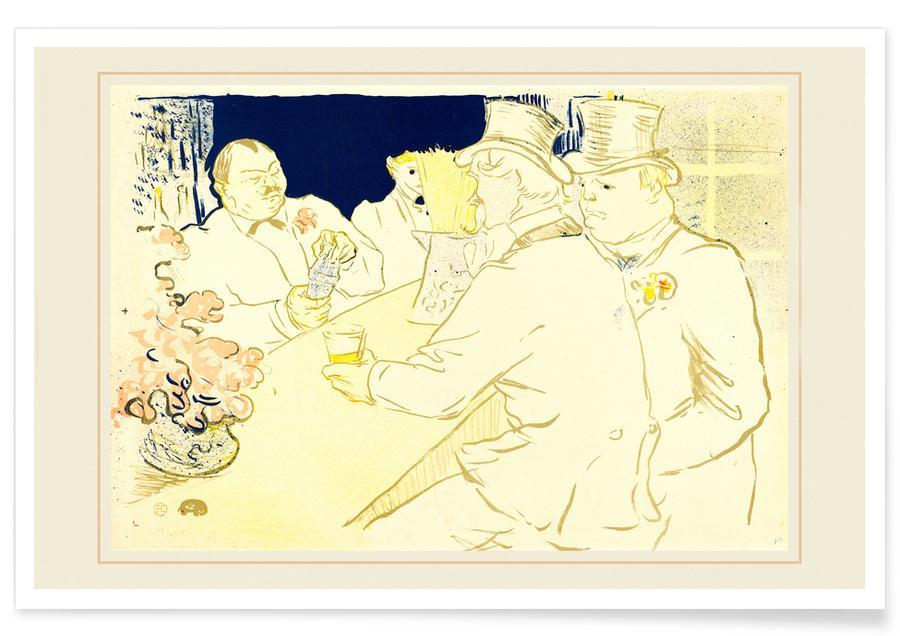 , Irish and American Bar, Rue Royale, 1896 - Henri de Toulouse-Lautrec affiche