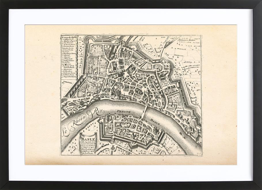 Basel, Switzerland , 1726 Framed Print
