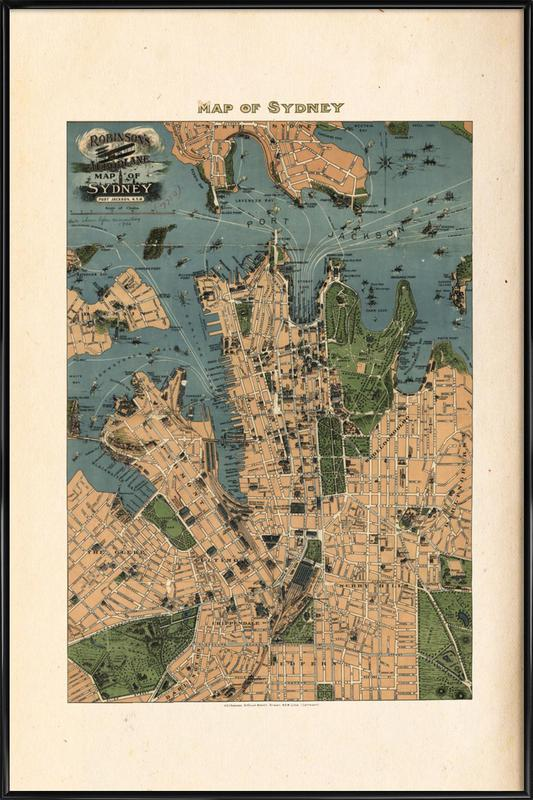 Sydney, Australia, 1922 -Bild mit Kunststoffrahmen