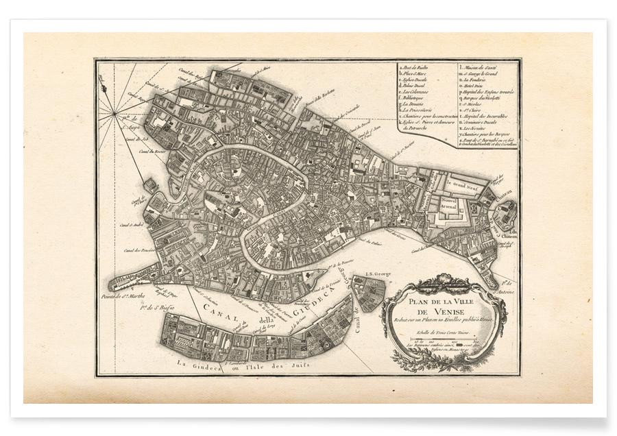 Venice, Venice, Italy, 1764 Map Poster