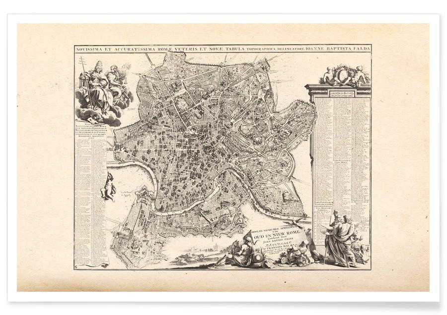 Rome, Rome, Italy, 1694 - 1699 Map Poster