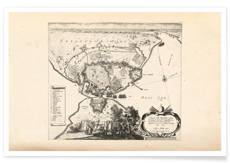 Copenhagen, Copenhagen, Denmark, 1659 Map Poster