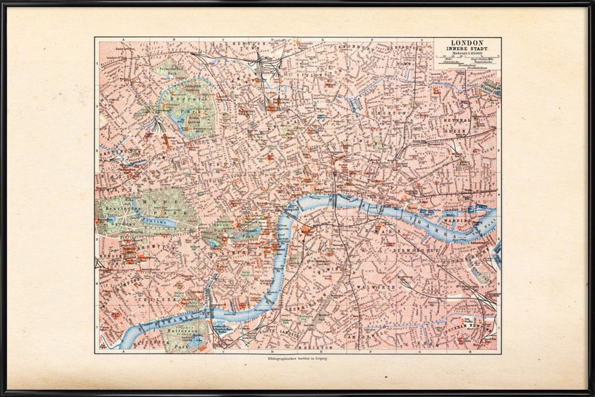 London, United Kingdom, 1899 Framed Poster