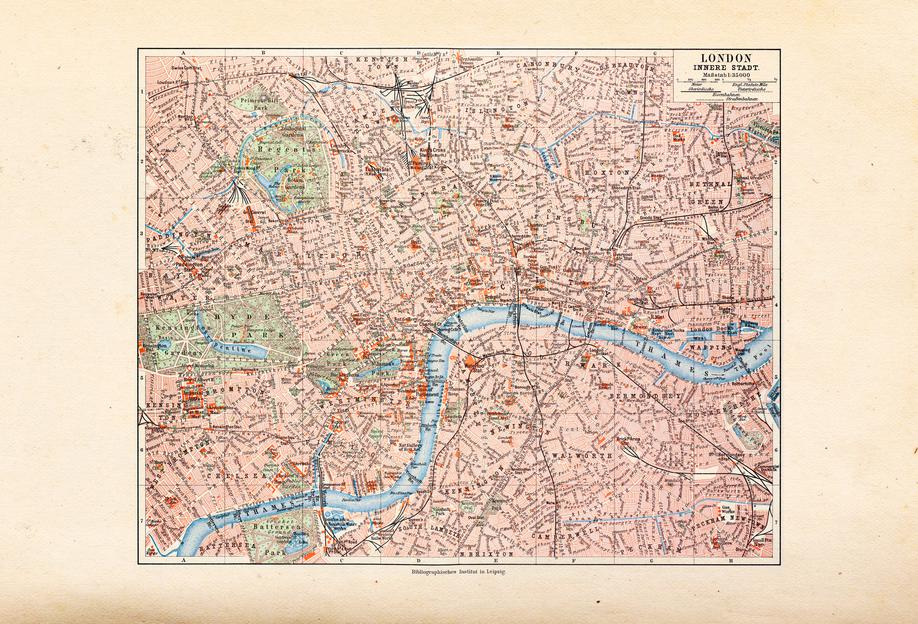 London, United Kingdom, 1899 Aluminium Print