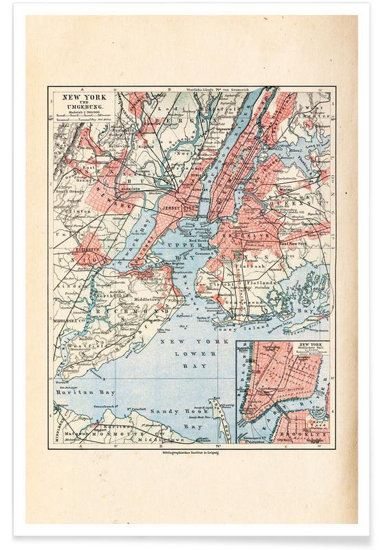 New York, New York, United States, 1899 Map Poster