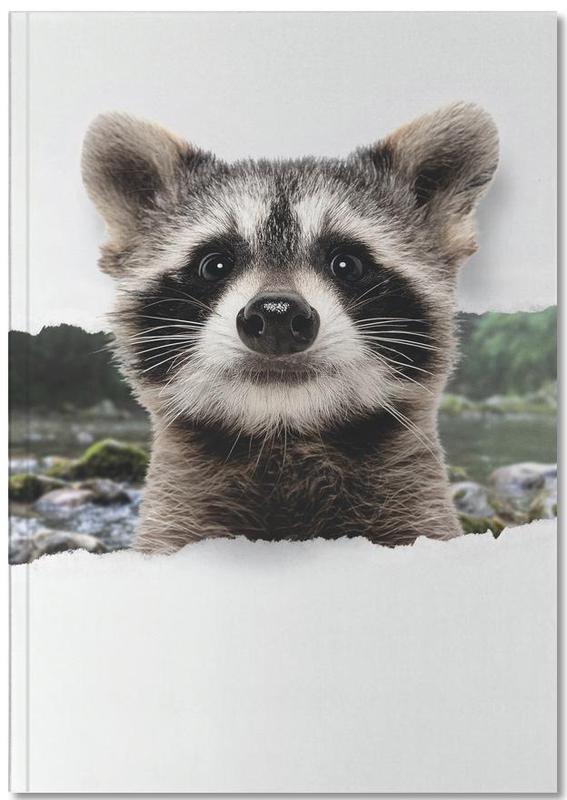 Kunst voor kinderen, Raccoon Torn Paper Notebook