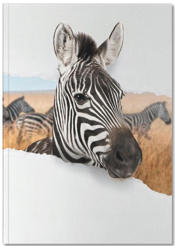 Kunst voor kinderen, Zebra Torn Paper Notebook