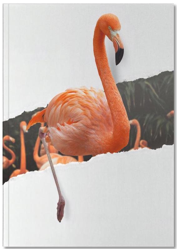Kunst voor kinderen, Flamingo Torn Paper Notebook
