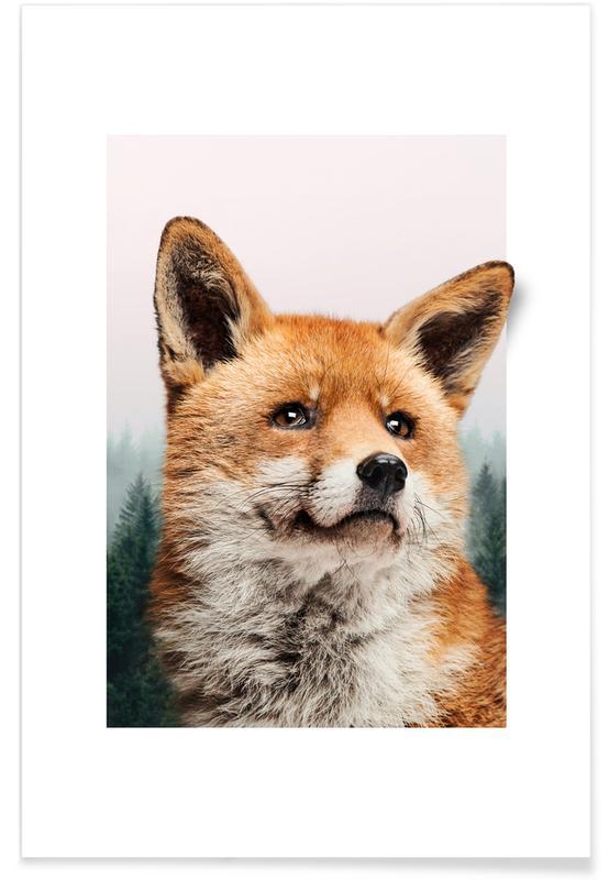 Vossen, Kunst voor kinderen, FOX poster