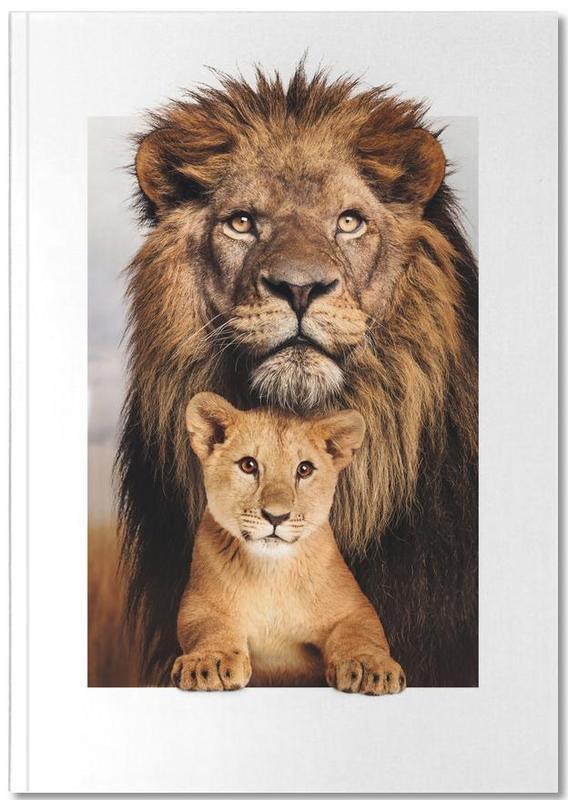 Kunst voor kinderen, Leeuwen, LION FAMILY Notebook