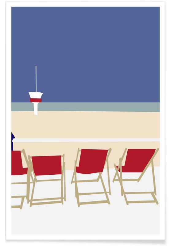 Océans, mers & lacs, Seaside affiche
