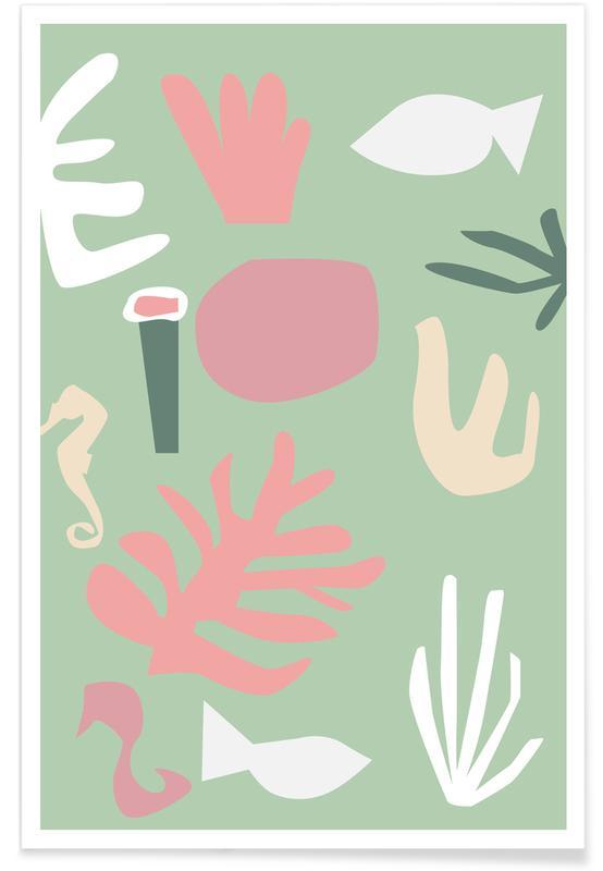 Abstracte landschappen, Underwater poster