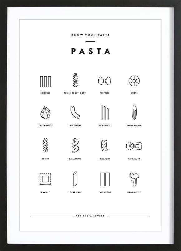 Pasta chart Poster i träram