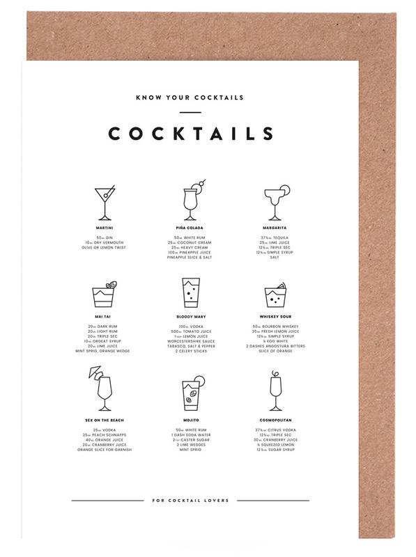 Cocktail chart cartes de vœux