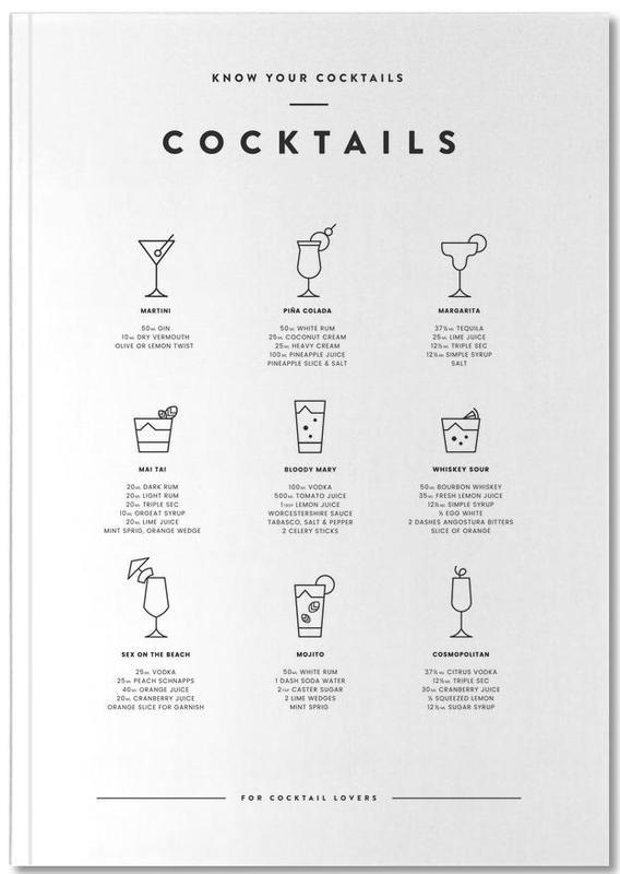 Noir & blanc, Cocktail chart Notebook