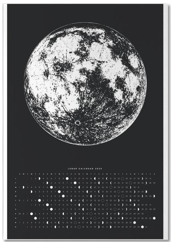 Moon calendar black Notebook