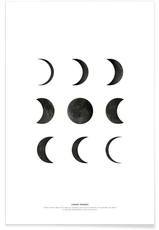 Noir & blanc, Lunar phases affiche