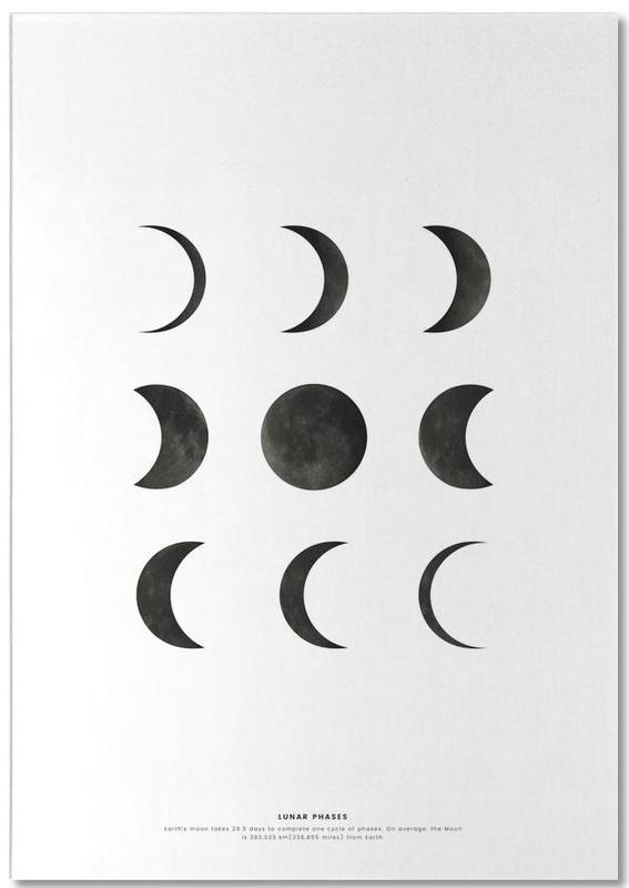 Lunar phases -Notizblock
