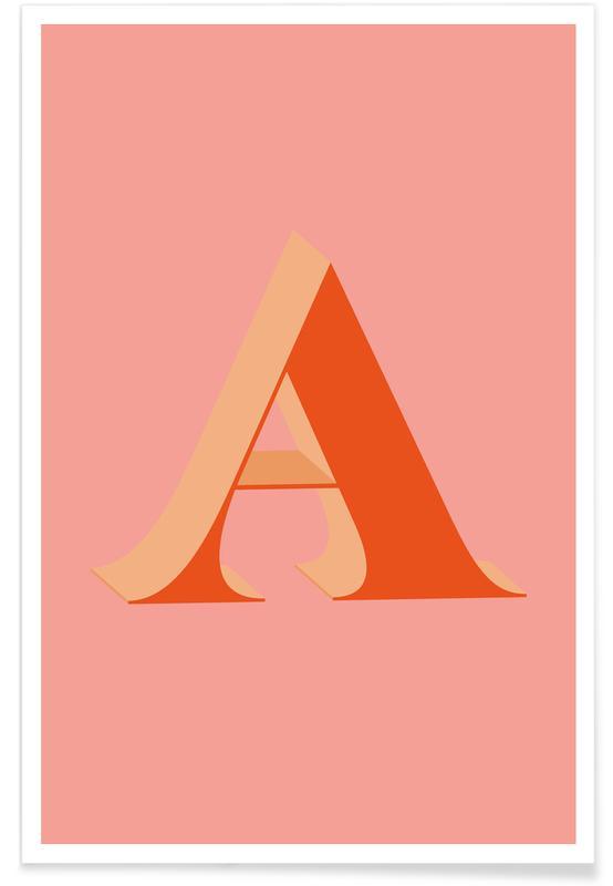 Alfabet og bogstaver, Red A Plakat