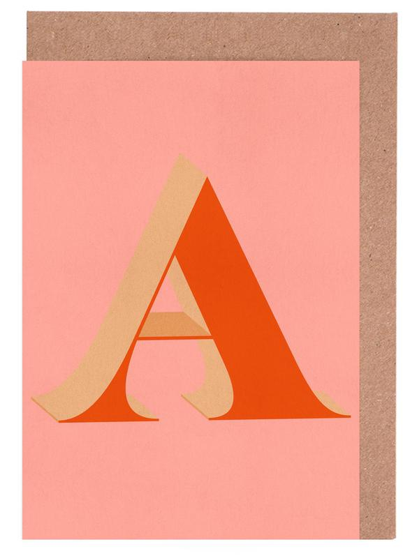 Red A -Grußkarten-Set