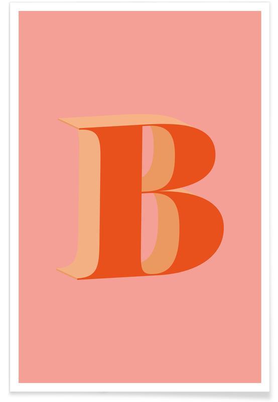 Alfabet og bogstaver, Red B Plakat