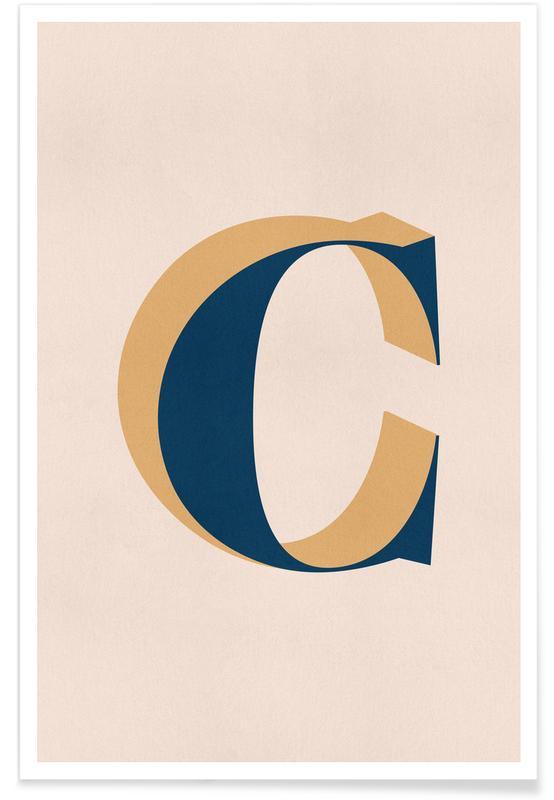 Alfabet og bogstaver, Blue C Plakat