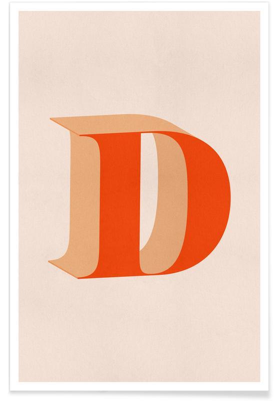 Alfabeto & lettere, Red D poster