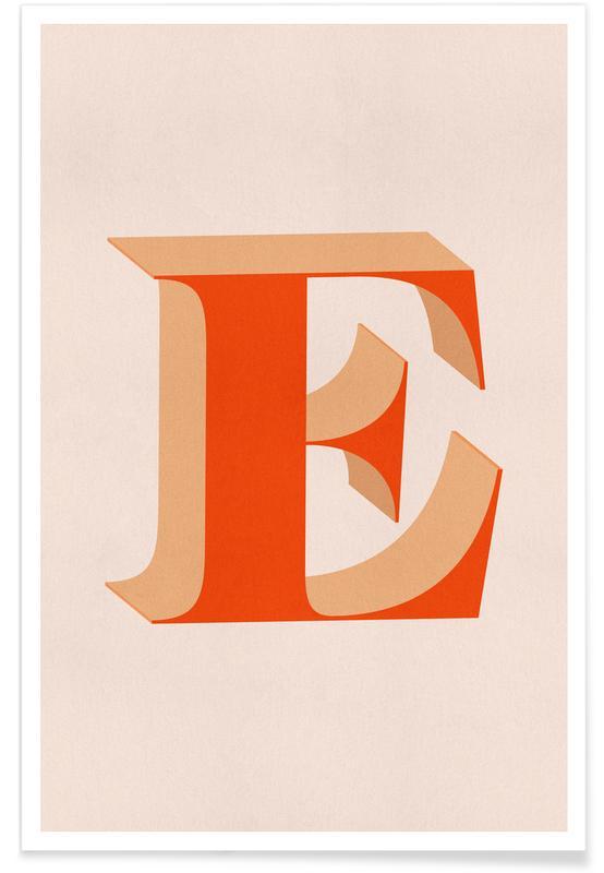 Alfabet og bogstaver, Red E Plakat