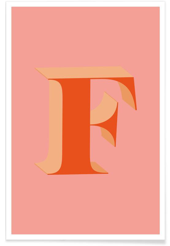Alfabeto & lettere, Red F poster