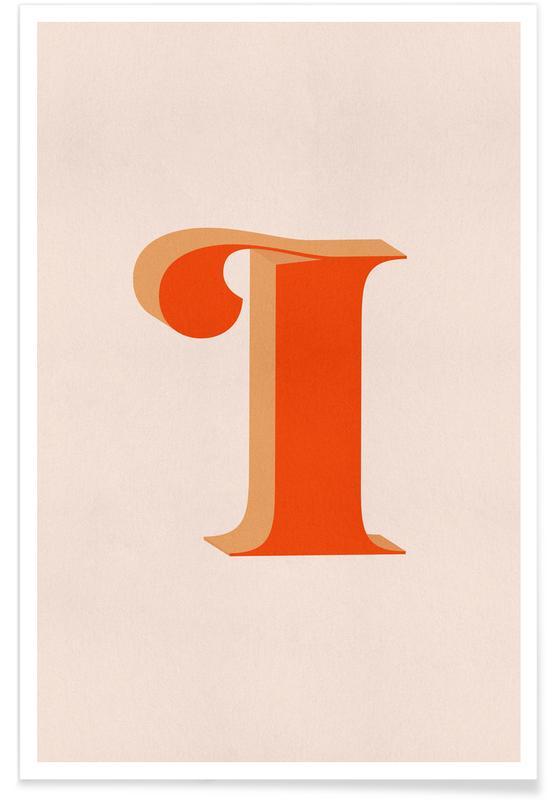 Abecedario y letras, Red I póster