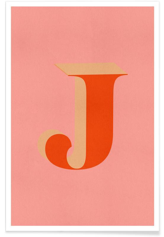 Alfabeto & lettere, Red J poster