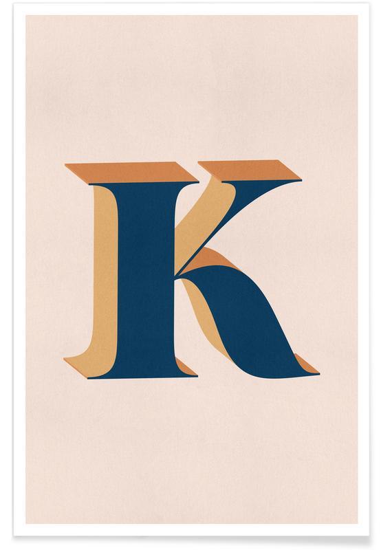 Abecedario y letras, Blue K póster