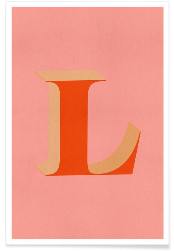 Alfabet og bogstaver, Red L Plakat