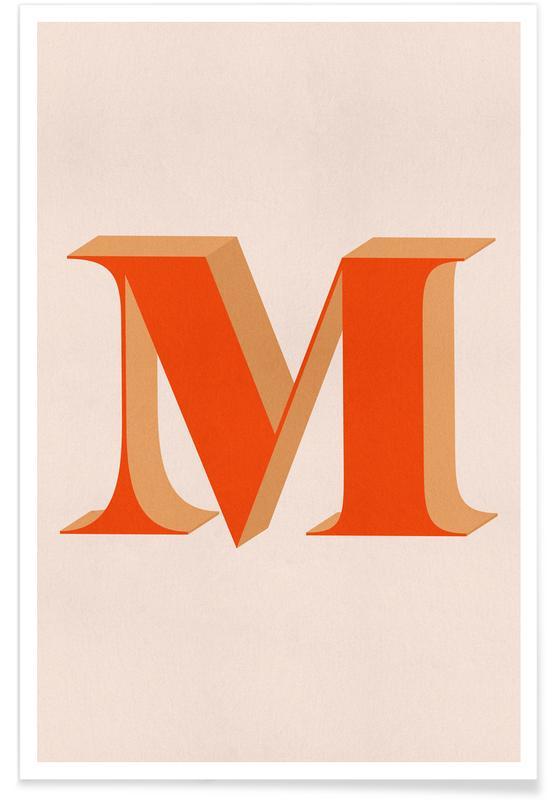 Alphabet et lettres, Red M affiche