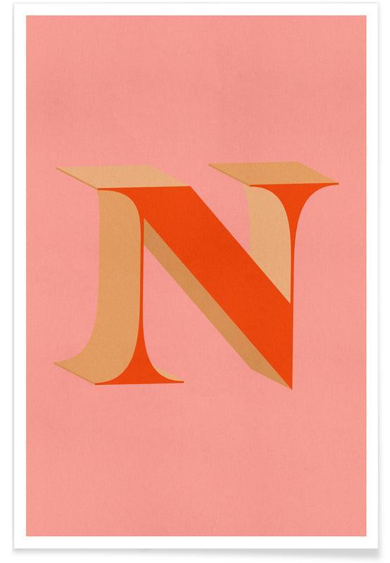 Abecedario y letras, Red N póster
