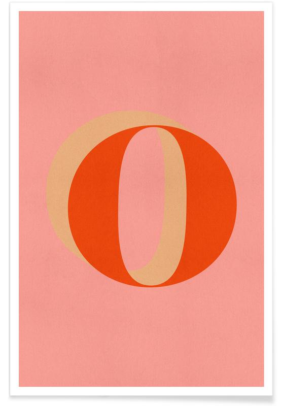 Alfabet og bogstaver, Red O Plakat