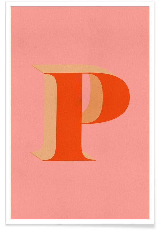 Alfabet og bogstaver, Red P Plakat