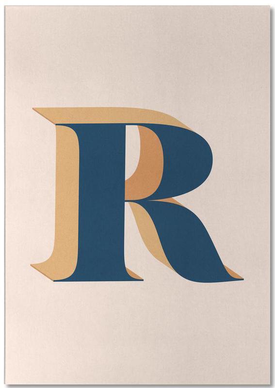 Blue R -Notizblock
