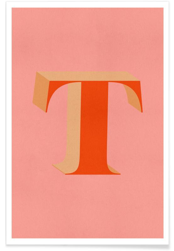 Abecedario y letras, Red T póster