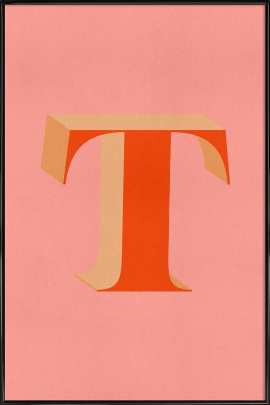Red T -Bild mit Kunststoffrahmen
