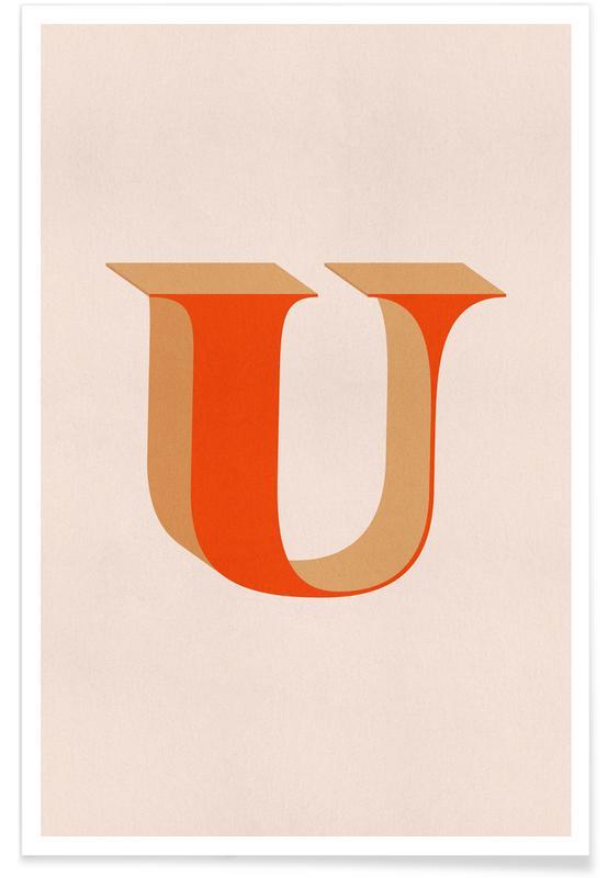 Alfabeto & lettere, Red U poster