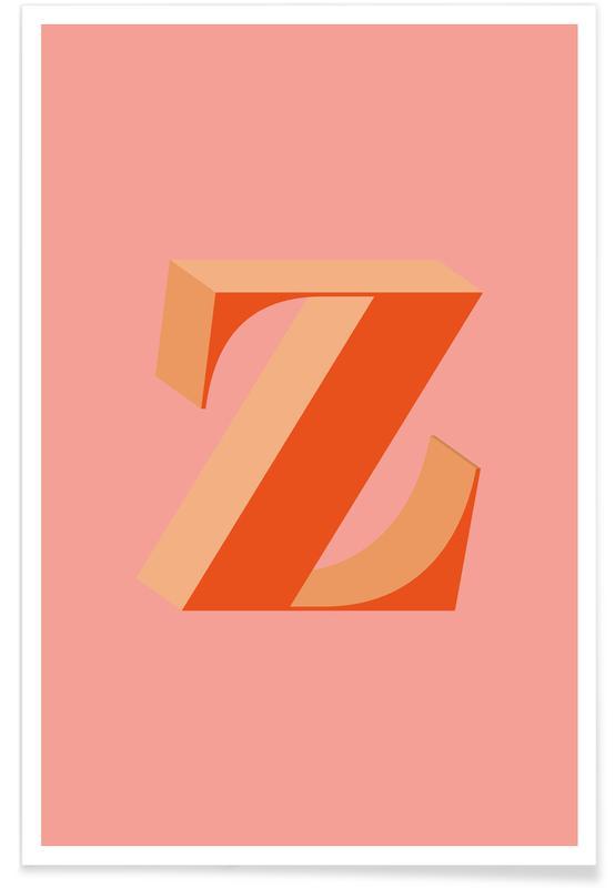 Abecedario y letras, Red Z póster