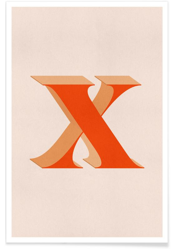 Alfabet og bogstaver, Red X Plakat