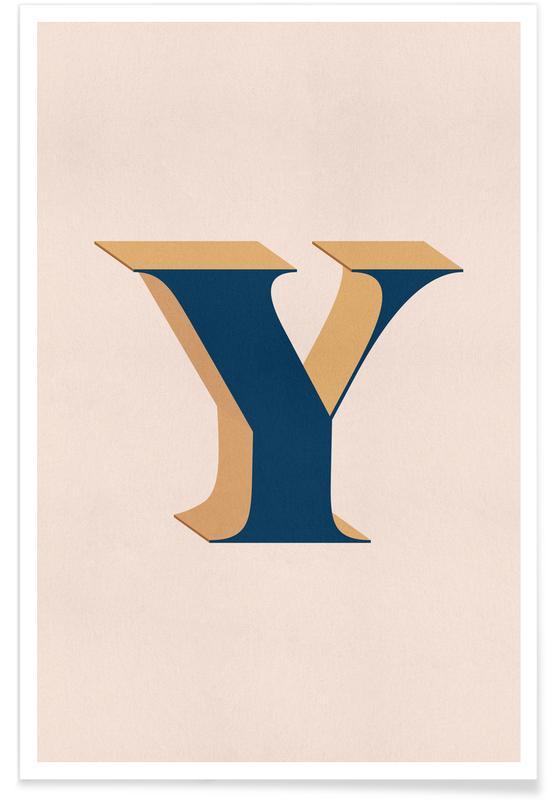 Alfabeto & lettere, Blue Y poster