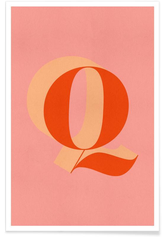 Alfabeto & lettere, Red Q poster