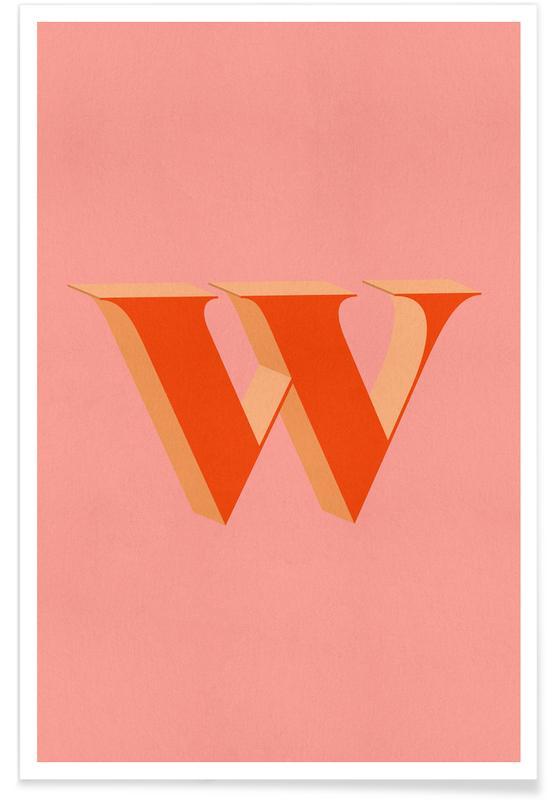 Abecedario y letras, Red W póster