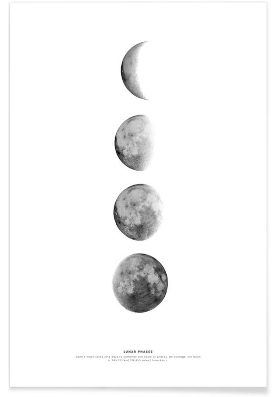 Phases of the Moon affiche