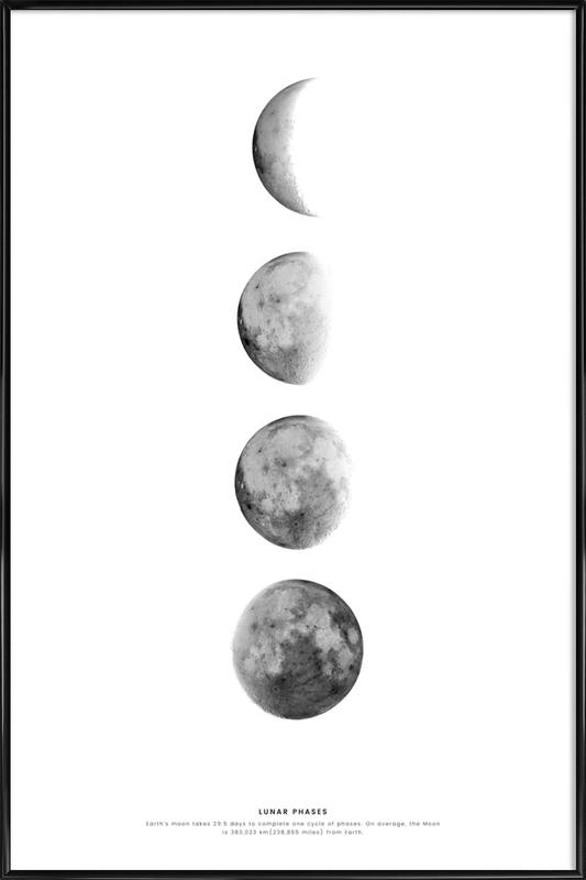 Phases of the Moon Framed Poster